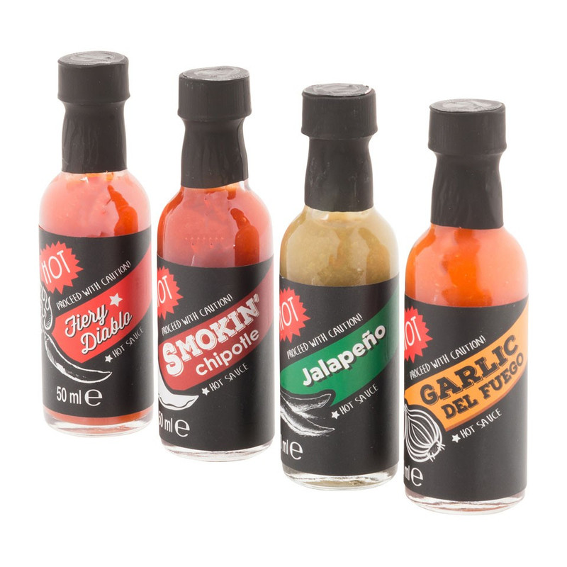 Hot sauce 4-pack
