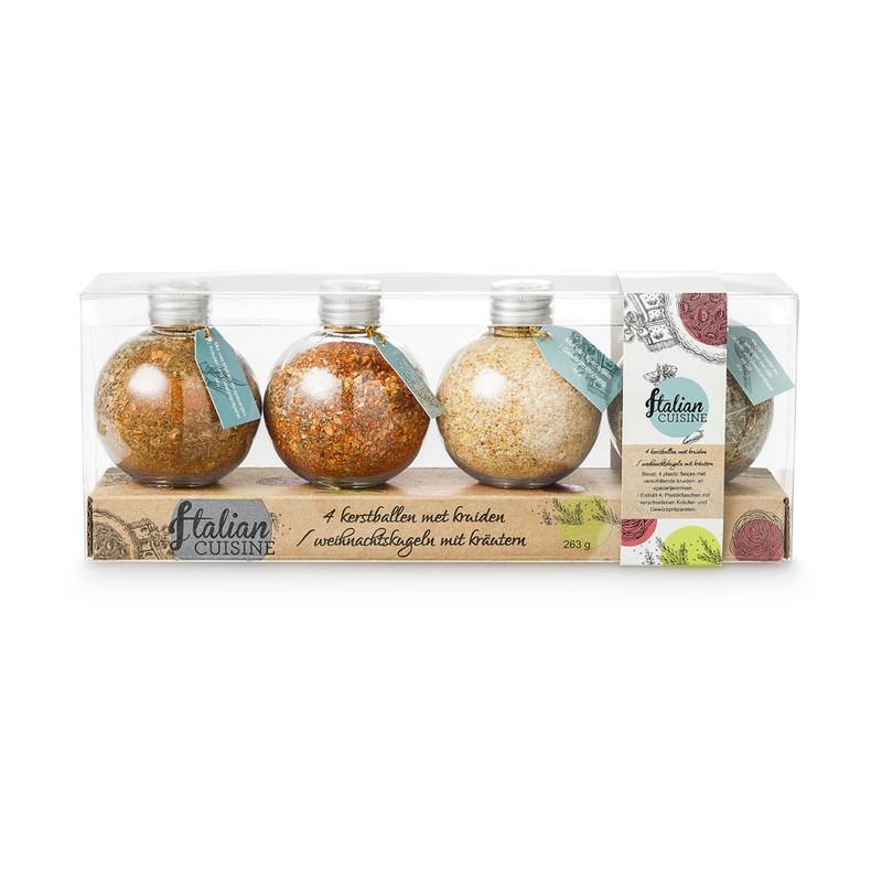 Kerstballen met kruiden - 4 stuks