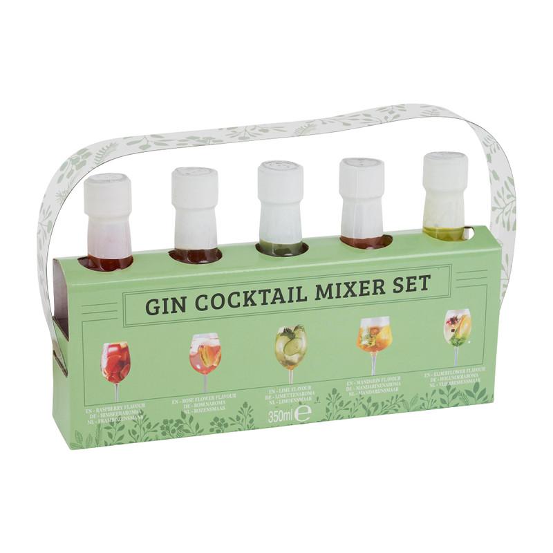 Gin cocktail mixer set - 5 smaken