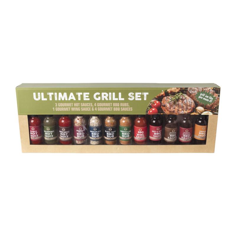 BBQ/grill giftset - set van 11