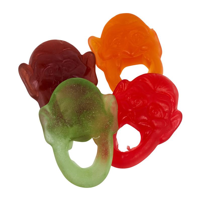 Screaming ring gummy candy - 16 stuks - diverse smaken