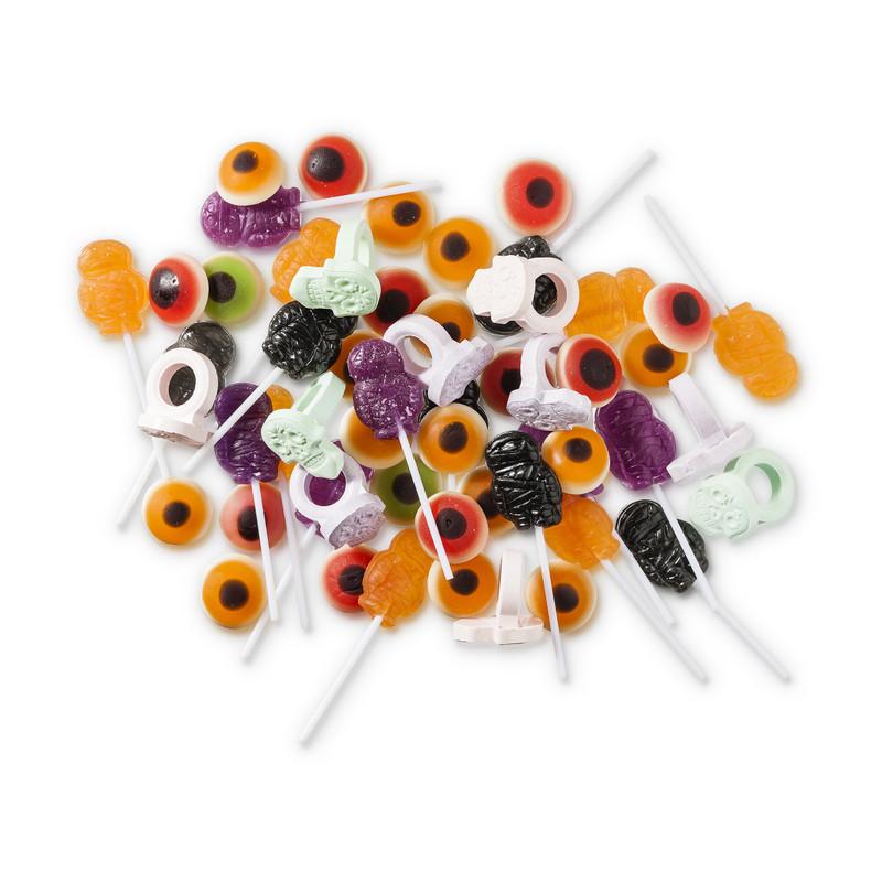 Halloween ring lolly pops - 7 stuks - diverse smaken