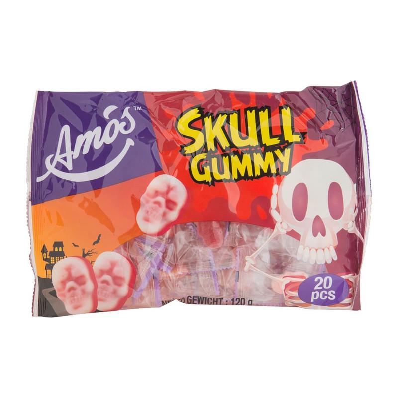 Skull gummy - 20 stuks - aarbeiensmaak