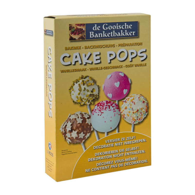 Cake pops bakmix - vanillesmaak