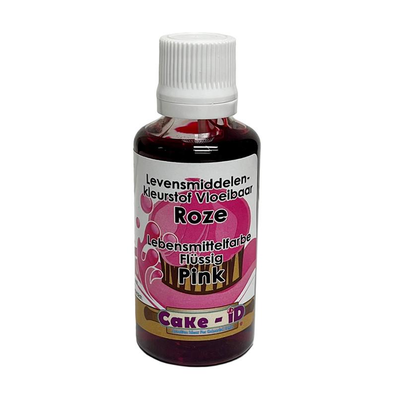 Vloeibare kleurstof - roze - 50 ml