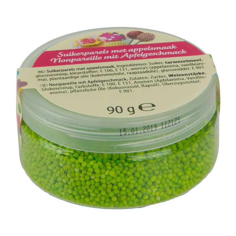 Suikerparels - appel - 90 gram