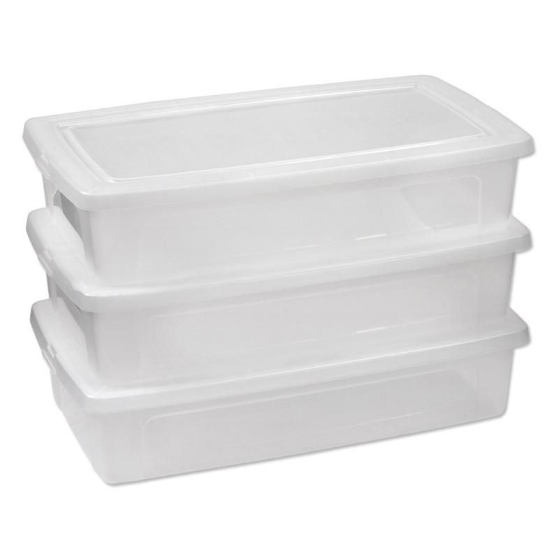 Iris clearbox onder-het-bed - 30 liter - set van 3