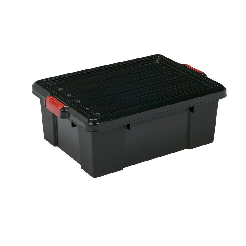 Iris powerbox met deksel - 43 liter - set van 2
