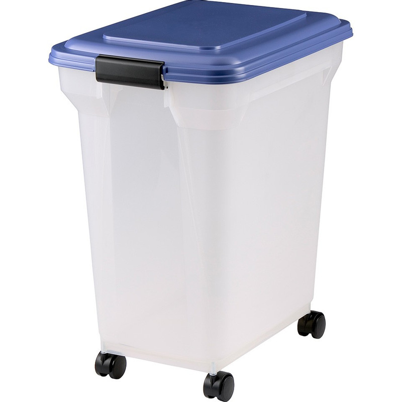 Iris voedselcontainer dieren met deksel en wieltjes - 45 liter