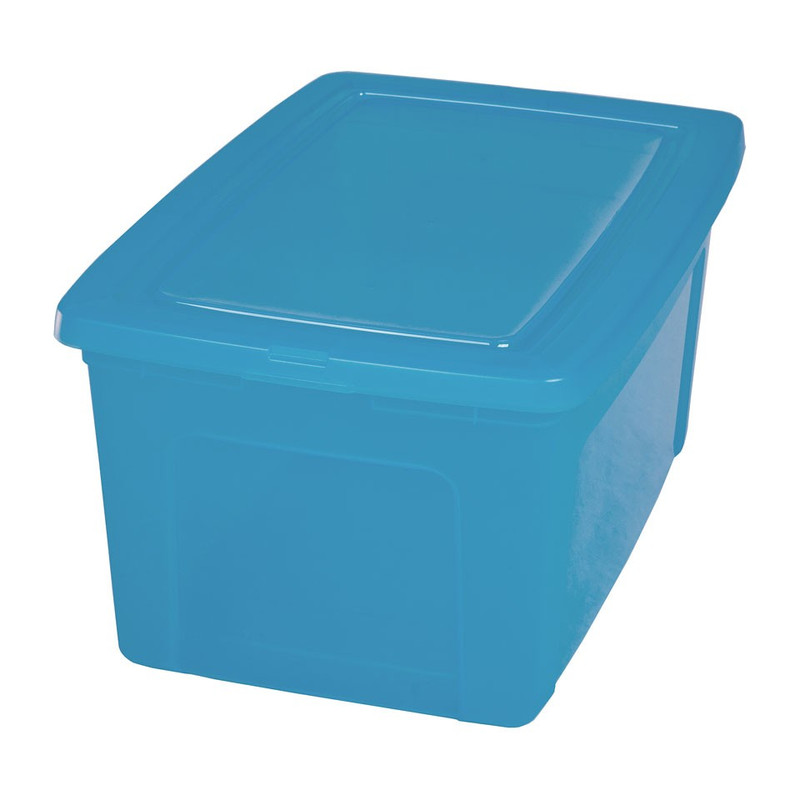 Iris clearbox - 50 liter - blauw - set van 2