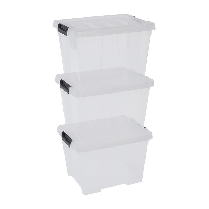 Iris clearbox - 15 liter - transparant - set van 3