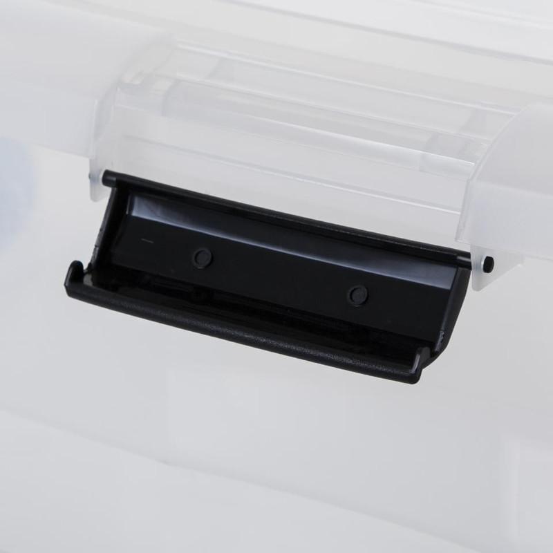 Iris onder-het-bedbox - 60 liter - transparant
