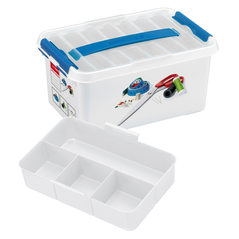 Sunware Q-line naaibox - 6 liter - wit