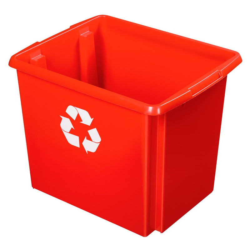 Sunware Nesta recycle box - 45 liter - rood
