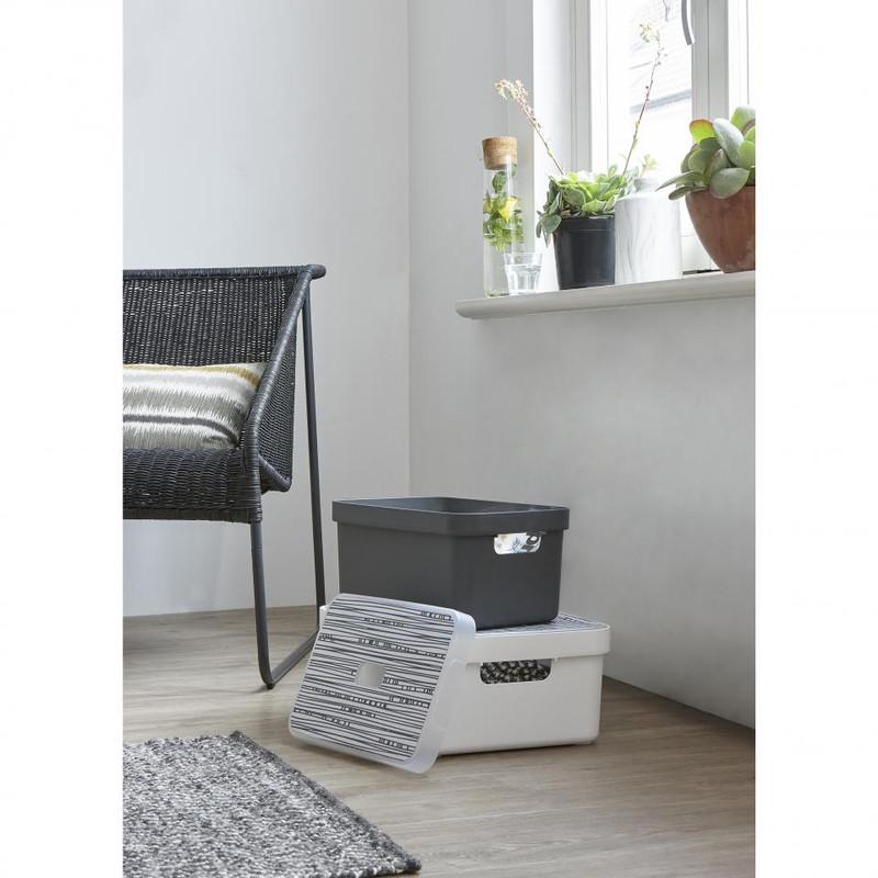 Sunware opbergbox Sigma home - 13 liter - antraciet