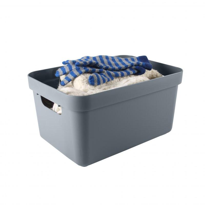 Sunware opbergbox Sigma home - 13 liter - blauwgrijs