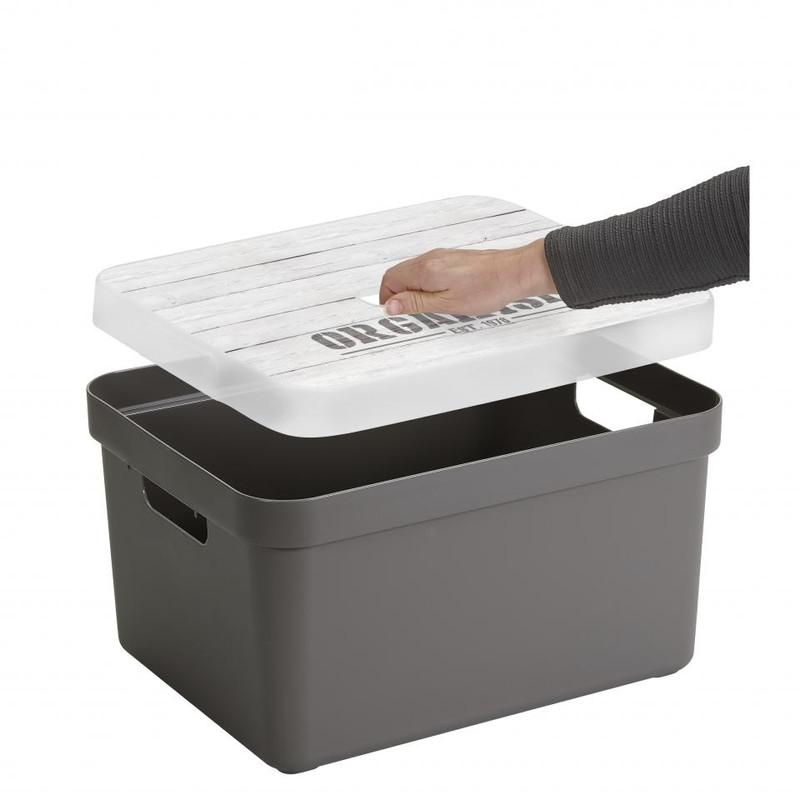 Sunware opbergbox Sigma home - 13 liter - taupe