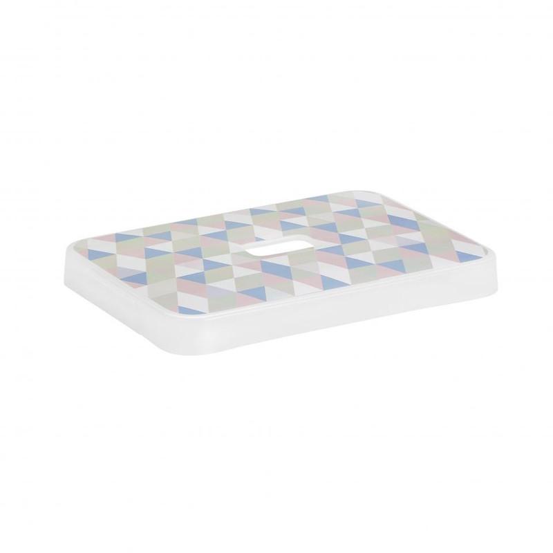 Sunware deksel voor Sigma home opbergbox 13 liter - pastel print