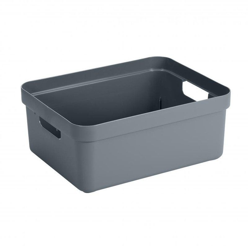 Sunware opbergbox Sigma home - 24 liter - blauwgrijs