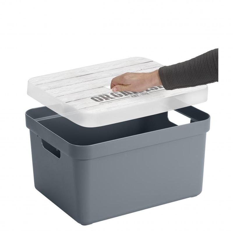 Sunware opbergbox Sigma home - 32 liter - blauwgrijs