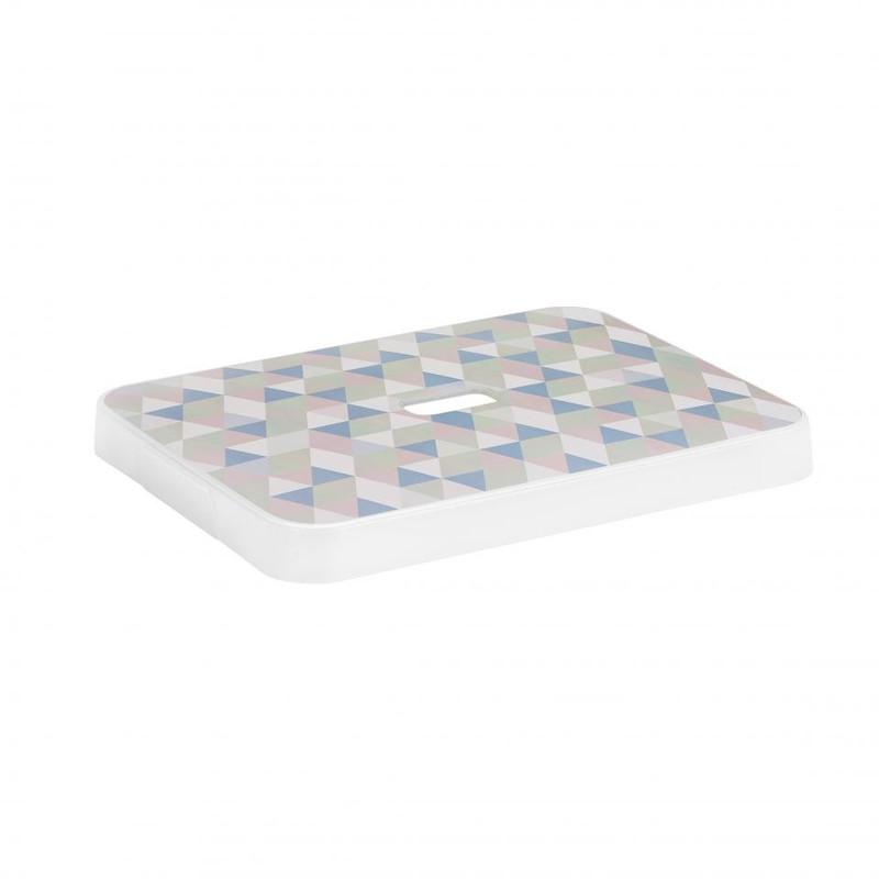 Sunware deksel voor Sigma home opbergbox 24 & 32 liter - pastel print