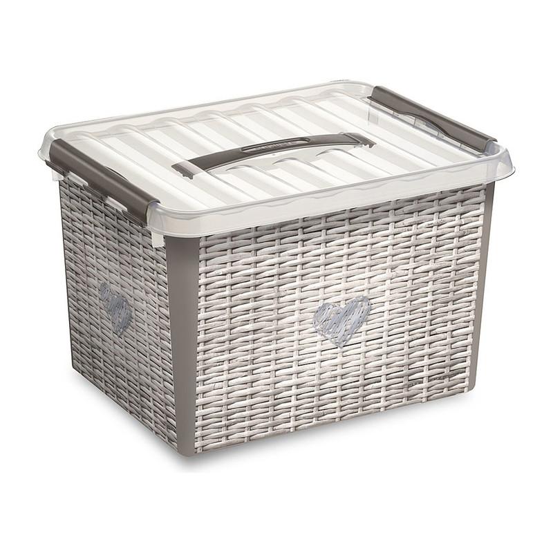 Sunware Q-line opbergbox - 22 liter - mandlook