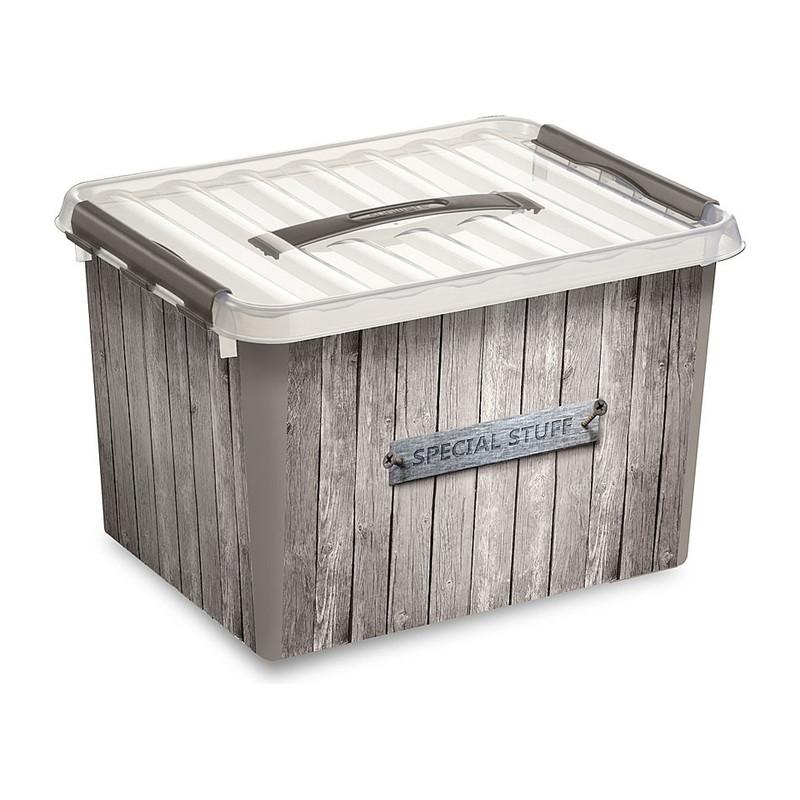 Sunware Q-line opbergbox - 22 liter - houtlook