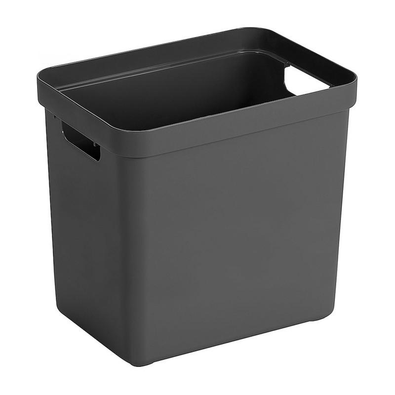 Sunware opbergbox Sigma home - 25 liter - antraciet