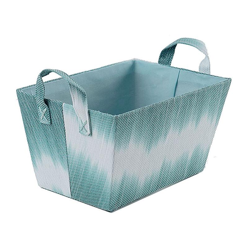 Compactor mand tie & dye - aqua - 32,5x21,5x17,5 cm