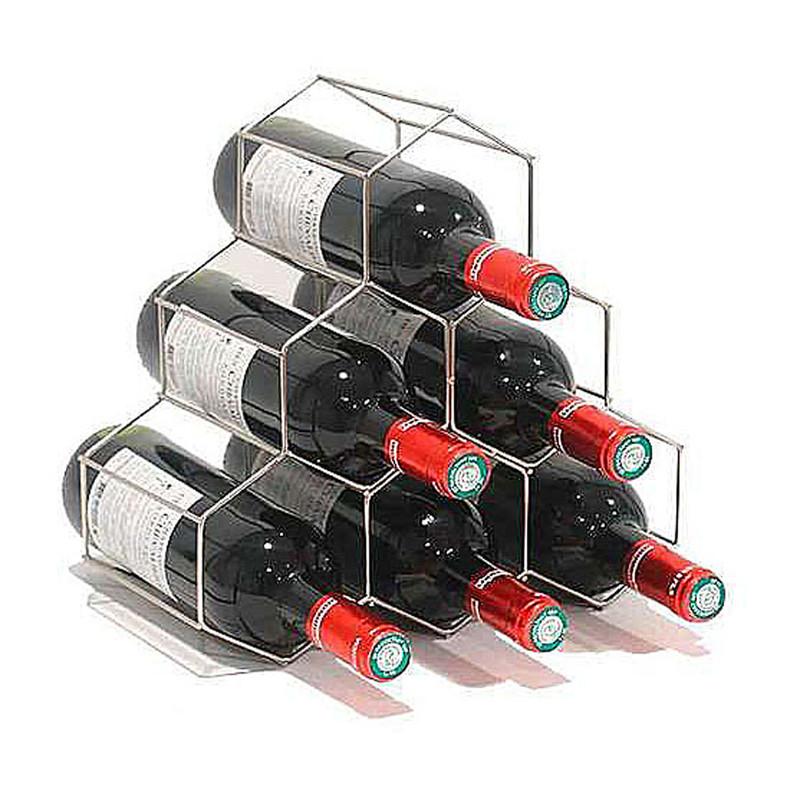 Compactor wijnrek - satijn chroom
