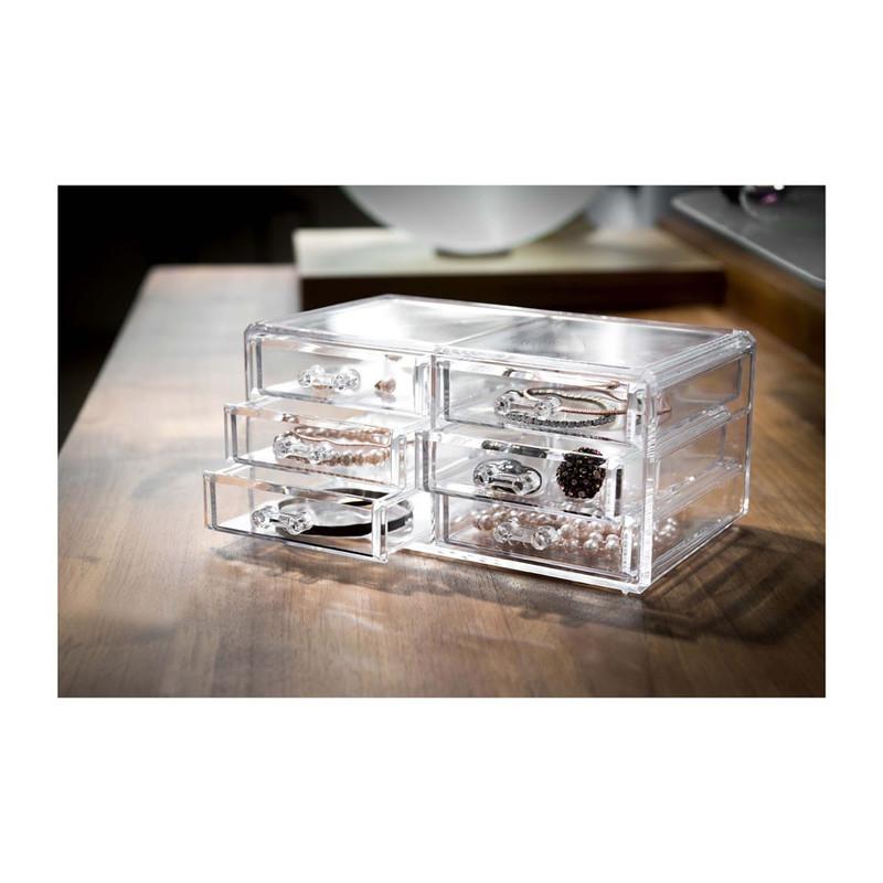 Compactor opbergbox voor juwelen met 3 lades