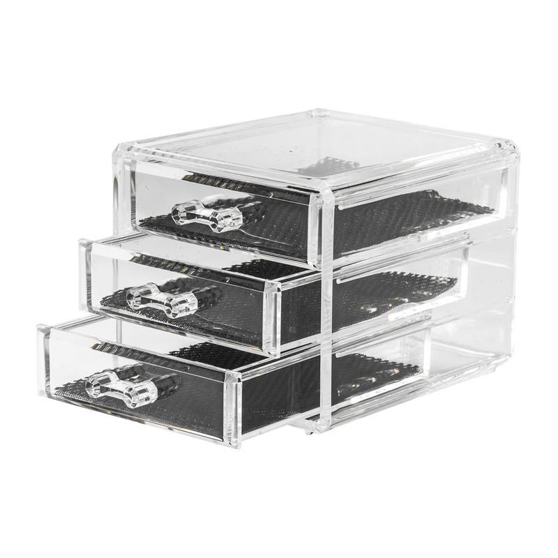 Compactor juwelen opberger - 3 lades - helder