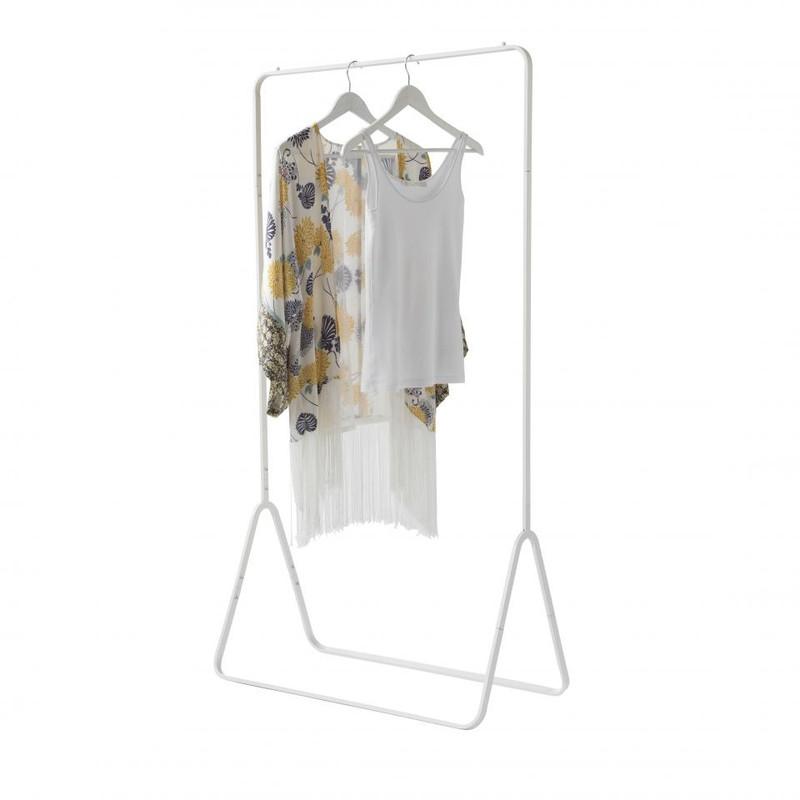 Compactor Niels kledingrek met legplank - wit