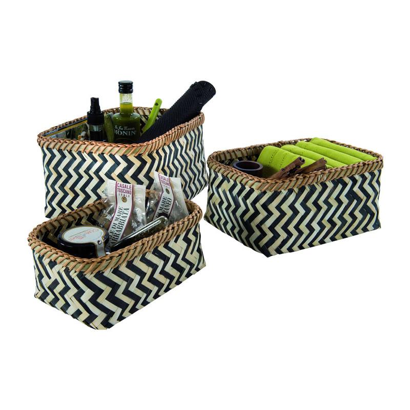 Compactor Zebra mandjes - set van 3
