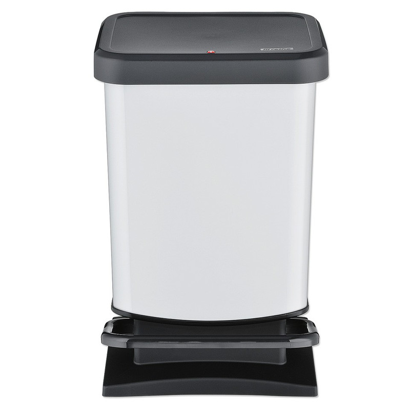 Rotho pedaalemmer Paso - 20 liter - wit