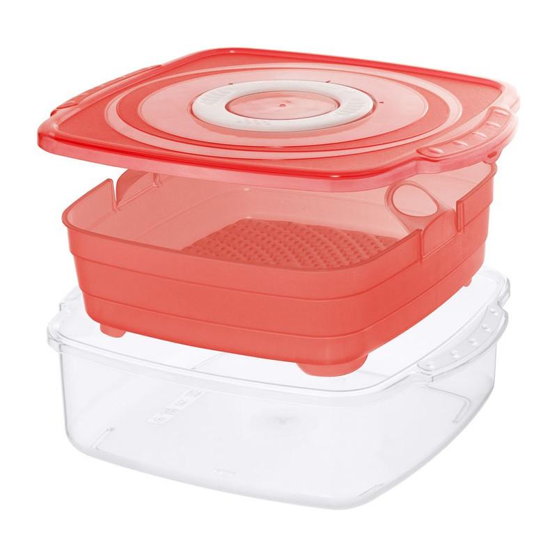 Rotho magnetron-steamer clever - 2 liter - rood