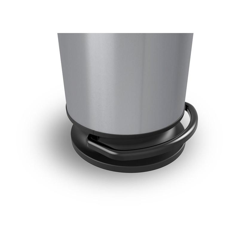 Rothoedaalemmer Paso  rond - 30 liter - zilver metallic