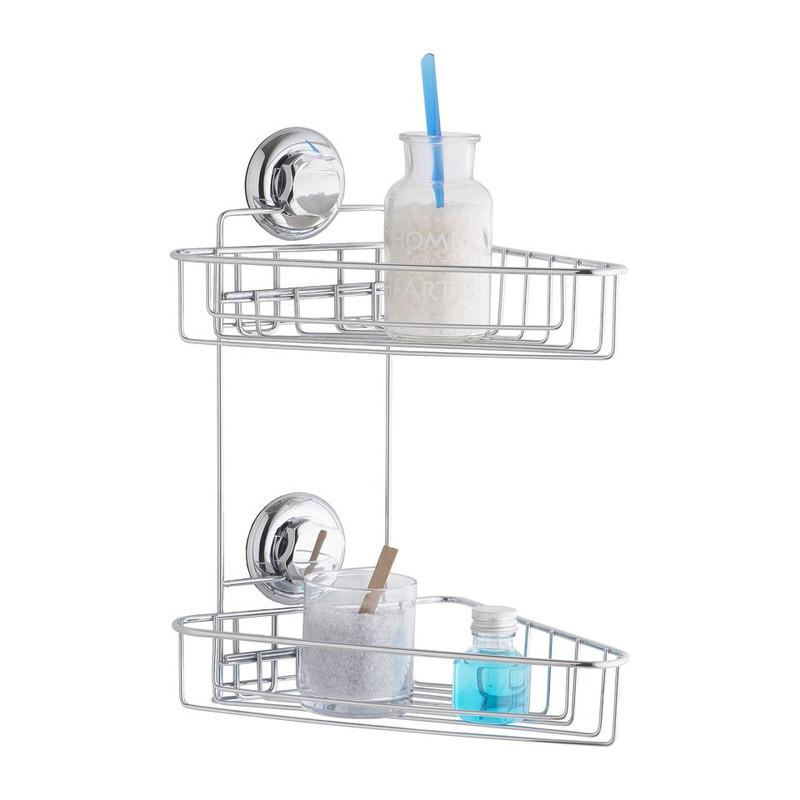 Compactor Bestlock badkamerrek hoek met zuignap - 2-laags