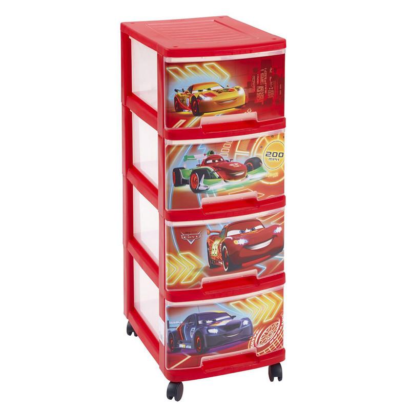 Curver Disney Cars ladekast - 4 laden - 10  liter