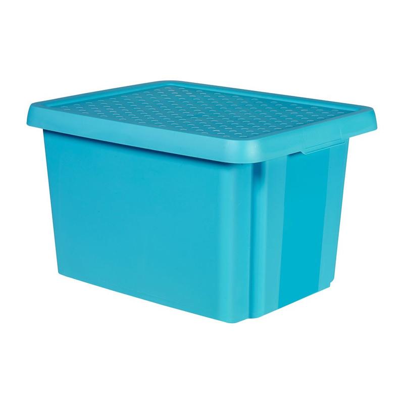 Curver essentials opbergbox - 26 liter - blauw