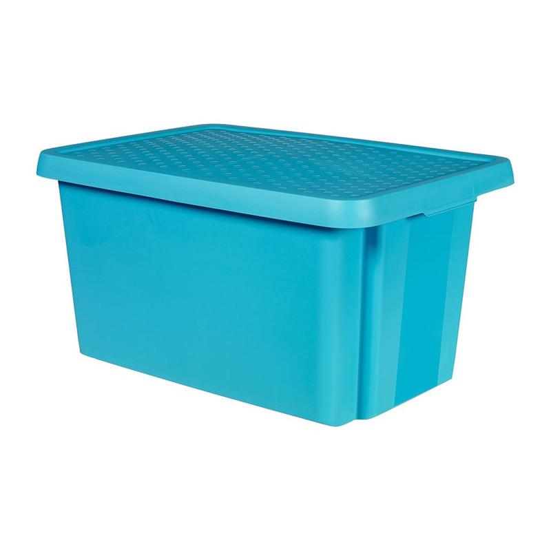 Curver essentials opbergbox - 45 liter - blauw