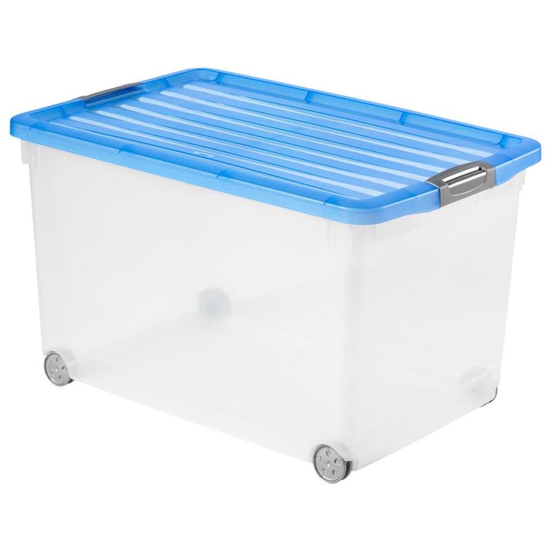 Curver click'n fit opbergbox - 60 liter - blauw