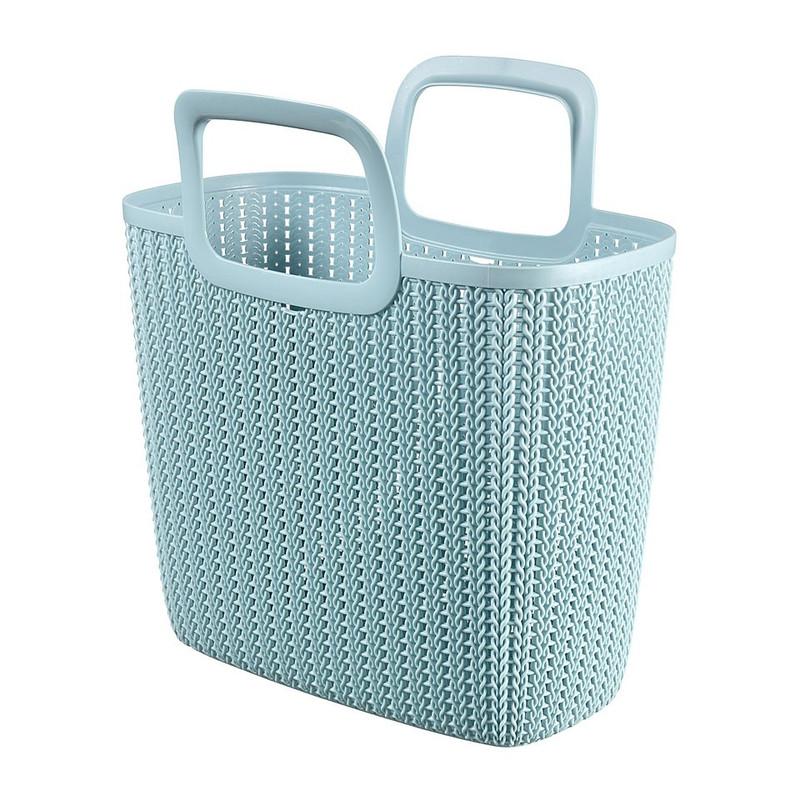 Curver knit shopping basket Lily - misty blue
