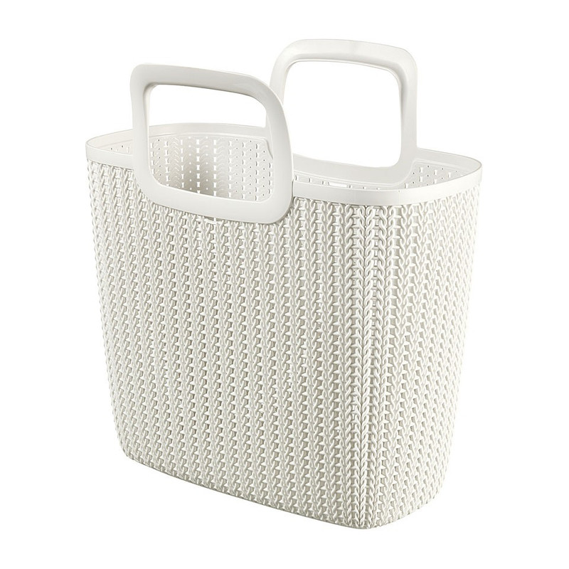 Curver knit shopping basket Lily - oasis white