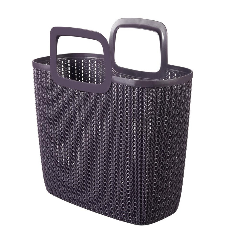 Curver knit shopping basket Lily - twilight purple
