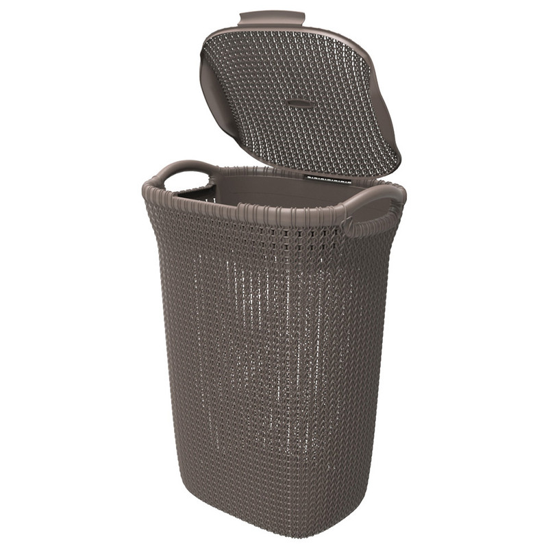 Curver knit wasmand 57 liter harvest brown