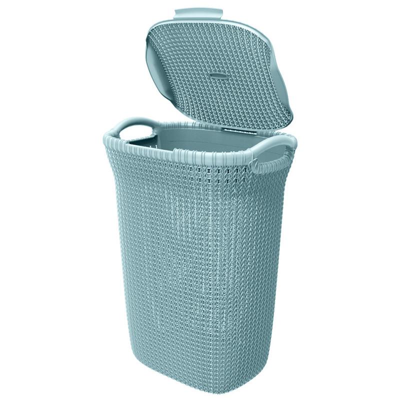 Curver knit wasmand - 57 liter - misty blue