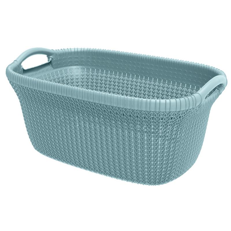 Curver knit heupwasmand - 40 liter - misty blue