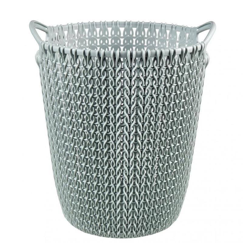 Curver knit papiermand - 7 liter - misty blue