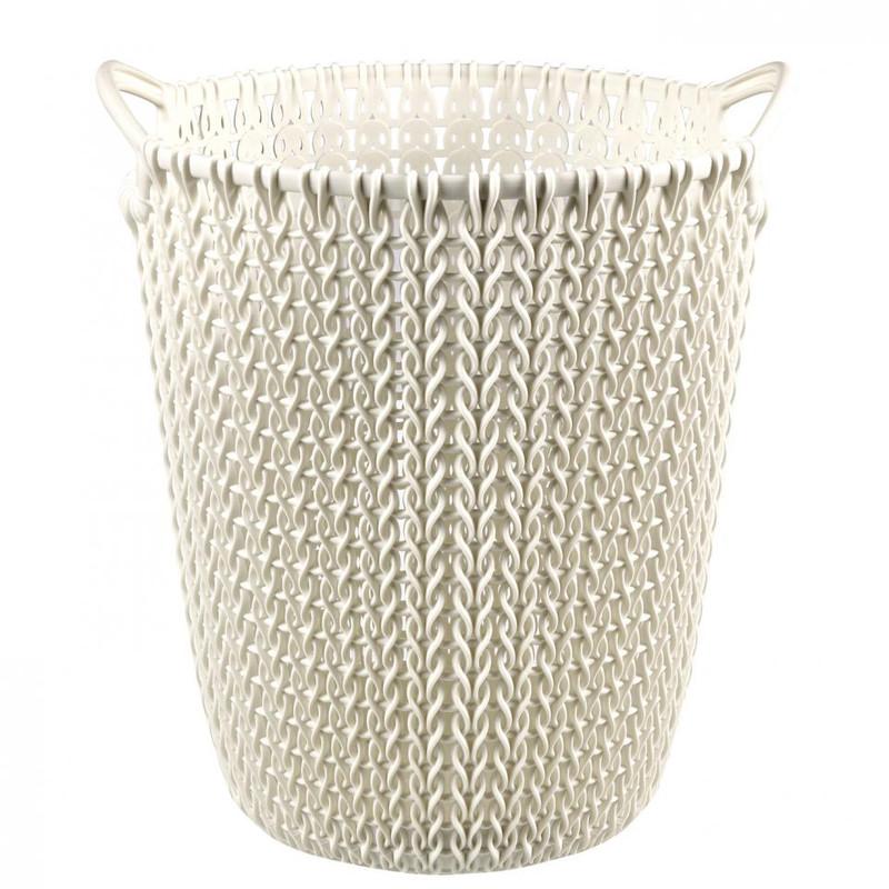 Curver knit papiermand - 7 liter - oasis white